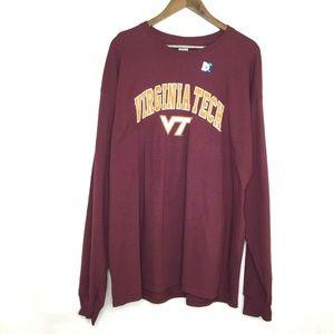 Virginia Tech Crew Neck T-Shirt Long Sleeve